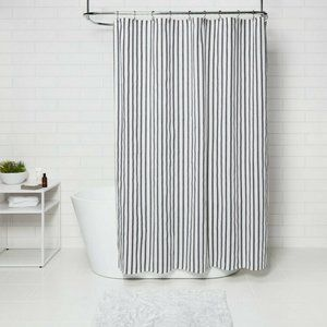 Project 62™ Stripe Shower Curtain Black/White NWT